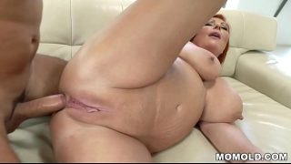 Phat ass red haired mature loves anal sex a lot