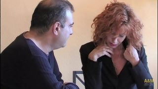 Amateur mature redhead mom rides hubby phat cock