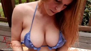 Busty Redhead Mom Can't Stop Sucking Your Balls